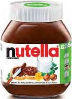 Nutella ferrero crema da spalmare alle nocciole e al cacao 825g нутела