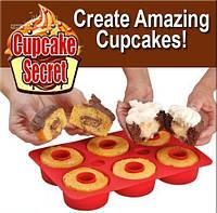 Силіконова форма для випічки капкейків чи мафінів Cupcake Secret, Капкейк Сикрет