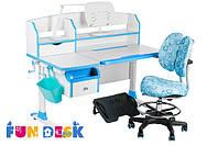 Детский стол-трансформер FunDesk Sognare Blue + детское кресло SST6 Blue