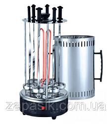 Шашлычница Электрическая Вертикальная Domotec 6 Шампуров Электрошашлычница