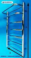 Водяной полотенцесушитель Tehni-x Полка высота 90 см, межосевое расстояние 40
