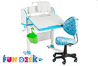 Детская парта-трансформер FunDesk Pensare Blue +Детское кресло SST5 Blue