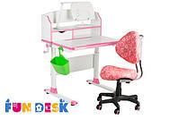 Детский стол-трансформер FunDesk Pensare Pink +Детское кресло SST5 Pink