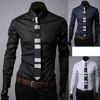 Мужская рубашка приталенная. Модель 248.