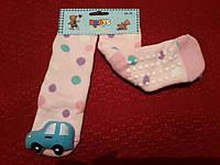 Носки детские, махровые, сигрушкой и с резиновыми подушечками, подходят от 3-х до 5 лет