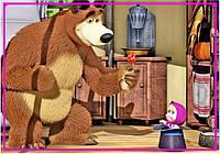 Магнит на холодильник виниловый. Маша и Медведь 19