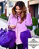 Короткое пальто с мехом ламы, пошив в любом цвете, длина 60 см