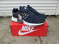 Мужские Кроссовки Nike Presto синие ткань