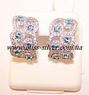 Комплект украшений с белыми и голубыми камнями Айсберг, фото 2