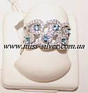 Комплект украшений с белыми и голубыми камнями Айсберг, фото 4