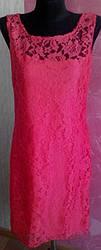 Нарядное кружевное женское вечернее платье красного, зеленого, кофейного и белого цвета