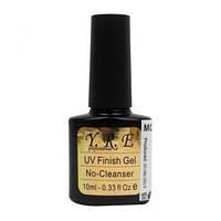 Топ YRE UV Finish Gel No-Cleanser - верхнее покрытие для гель-лака (без липкого слоя), 10 мл