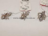 Комплект серебряный с фиантами Мармарис