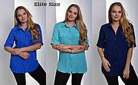 Женская модная рубашка/блуза больших размеров (3 цвета)