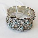 Комплект серебряный с голубыми фианитами Айсберг, фото 2