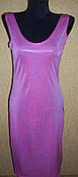 Платье женское розовое блестящее