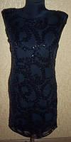 Черное женское вечернее платье с паеткими