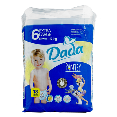 Трусики - подгузники Dada Extra Large 6 (16+ кг) - 18 шт.