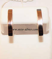 Серьги серебро с золотом Елена, фото 1