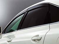 Ветровики с хром окантовкой для Lexus RX 350
