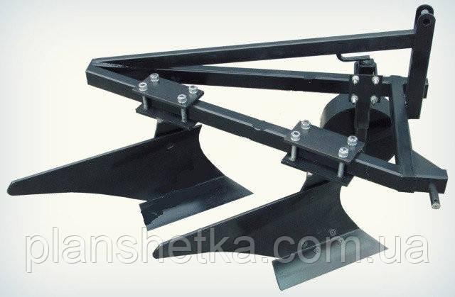 Плуг двухкорпусный для минитрактора (трёхточечное крепление) Премиум