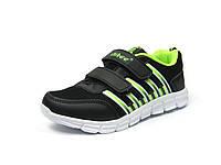 Детские кроссовки для девочек Clibee K-119 Черный Салат (Размеры: 31-36)
