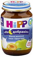 Молочная каша HiPP Манная с фруктами, 190 г