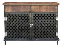 Комод IRON & W/N 2-DRAWER 2-DOOR SIDEBOARD. Цвет чёрный и натуральное дерево. Комод в стиле Лофт. Ручная работа. Сделано в Индии.