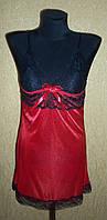 Красный женский пеньюар - ночная рубашка