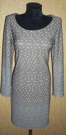 Женское трикотажное платье с оригинальным рисунком