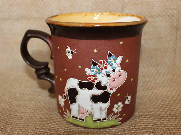 Чашка керамическая «Коровка»