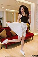 Женская юбка клеш на резинке