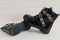 Лаковые ботинки на девочку,  демисезонная детская обувь тм JG р.32,35