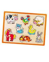 "Пазл Viga Toys ""Ферма"", пазлы с животными, развивающие пазлы, деревянные пазлы"