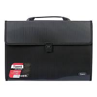 1602-01-А Портфель В4 на 3 відділення чорний