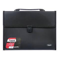 1601-01-А Портфель А4 на 3 відділення,  чорний