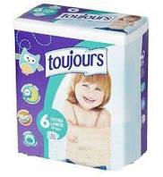 Подгузники Toujours Extra Large 6 (15+ кг) - 30 шт