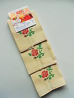 Кухонные полотенца с вышитой красной розой