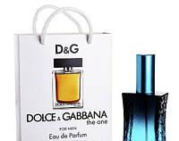 Мини парфюм мужской Dolce & Gabbana The One for Men в подарочной упаковке 50 ml