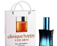 Мини парфюм мужской  Clinique Happy for men в подарочной упаковке 50 ml