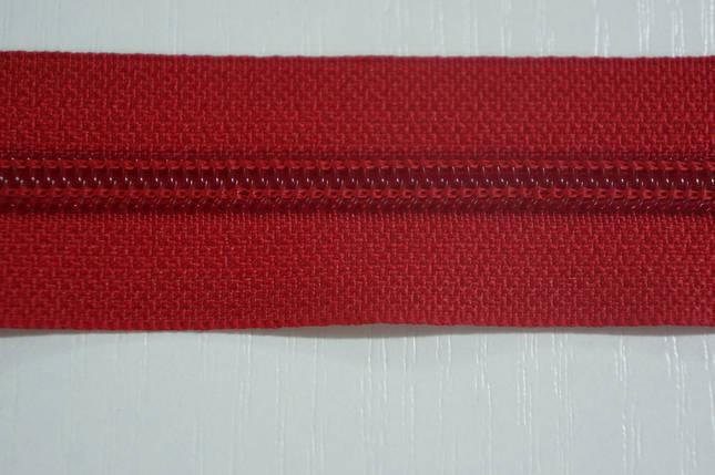Молния лента (метражка)  №7 (10), цвет №171 красный, фото 2