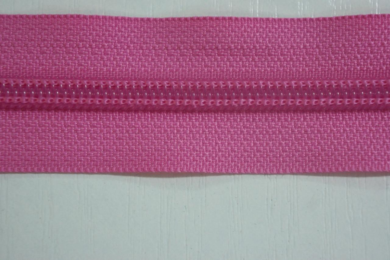 Молния лента (метражка)  №7 (10), цвет №515 розовый