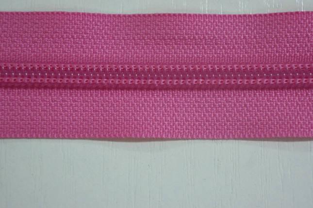 Молния лента (метражка)  №7 (10), цвет №515 розовый, фото 2