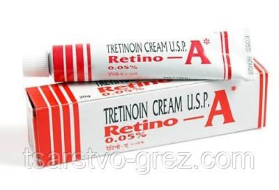 Третиноїн крем для проблемної шкіри Retino-A 0.05%, 20г. Строк до 11.2022