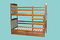 Ліжко двоярусне з масиву дерева Кетрін 800х1900