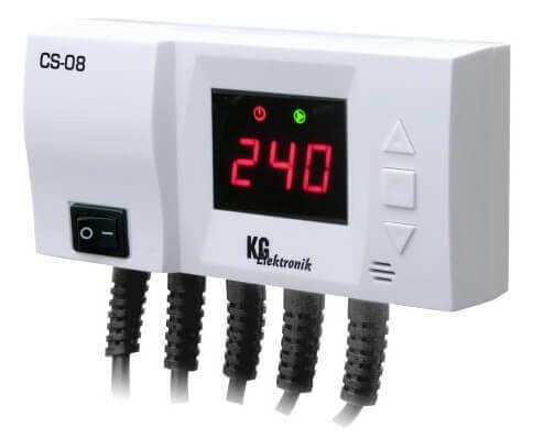 Контроллер KG Elektronik CS-08 для насоса ЦО и насоса ГВС, фото 2