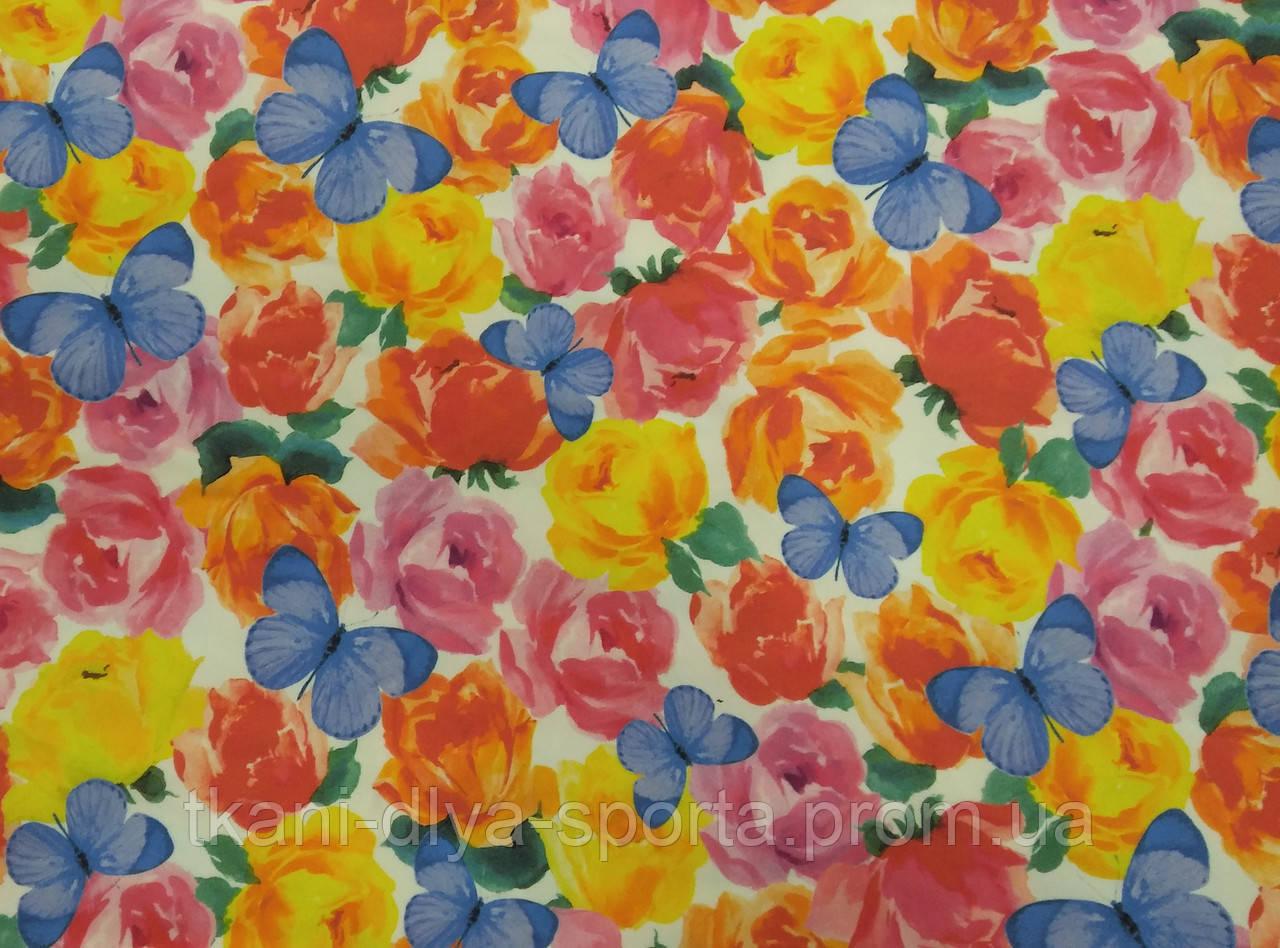 Бифлекс розы с бабочками
