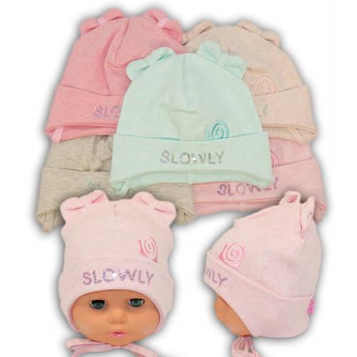 Детские шапки из трикотажа на завязках, 750