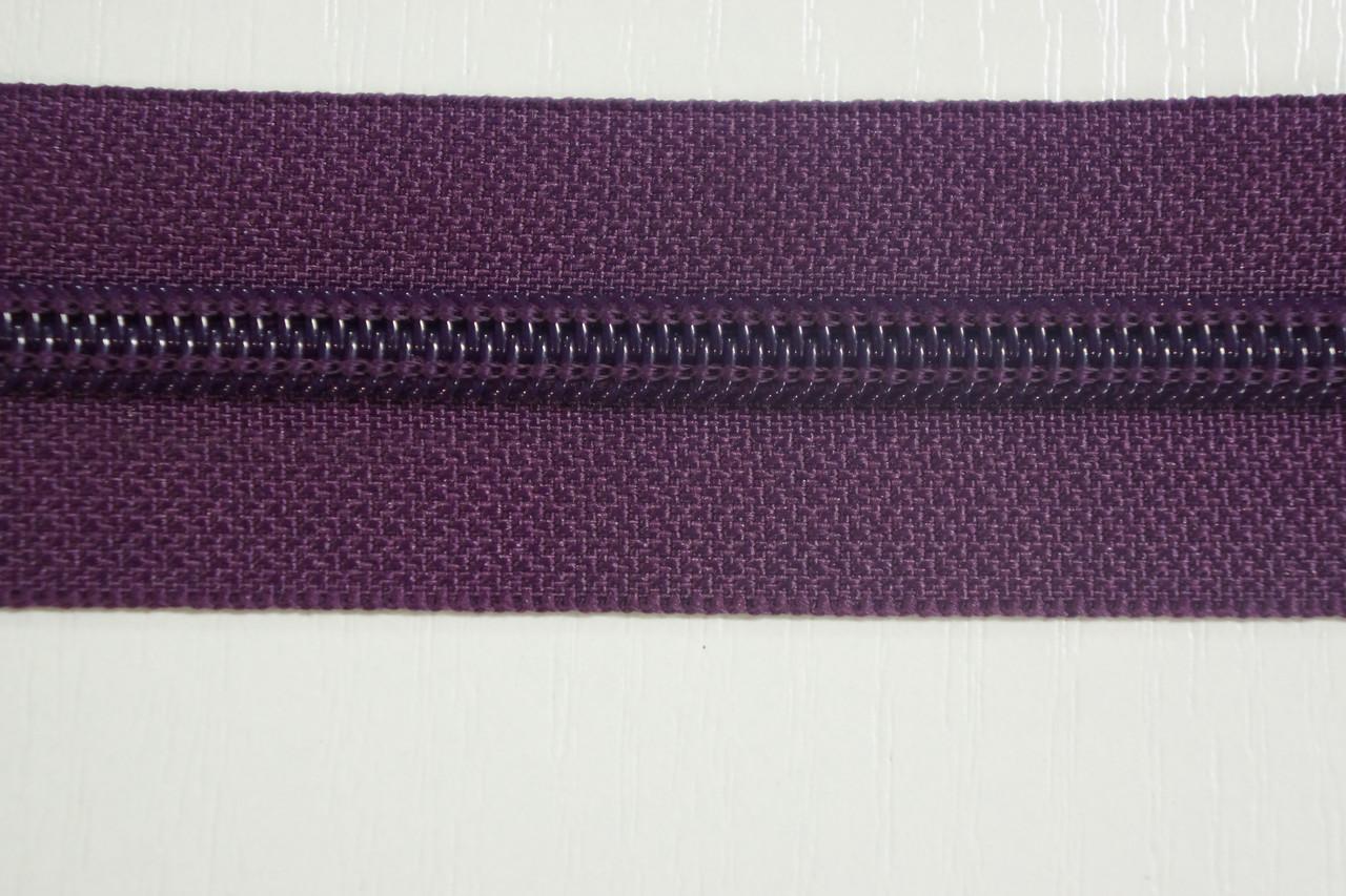 Молния лента (метражка)  №7 (10), цвет №174 темносиреневый