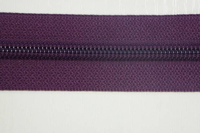 Молния лента (метражка)  №7 (10), цвет №174 темносиреневый, фото 2
